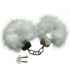 CUFF ADRIEN MENOTTES WITH PLUMES WHITE