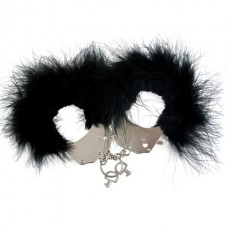 CUFF ADRIEN MENOTTES WITH PLUMES BLACK