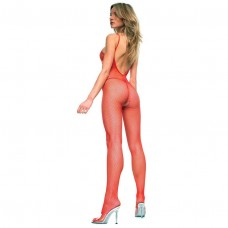 BODYSTOCKING MUSICLEGS PLUSSIZE RED