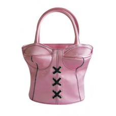 PURSE BLACK SAC A MAIN PINK