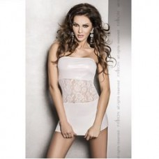 SATI VESTIDO BLANCO LEATHER FETISH TALLA L-XL
