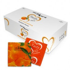 FLAVORED CONDOMS MOREAMORE TANGERINE Box 100 pcs.