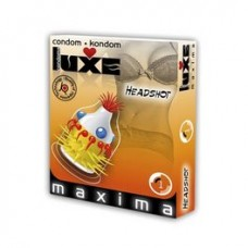 LUXE CONDOMS RED HEADSHOT 1UD