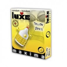 LUXE CONDOMS YEWLOW DEVIL 1UD